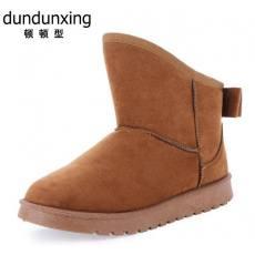 斜口低筒精美棉鞋 时尚保暖女式靴 防滑女鞋