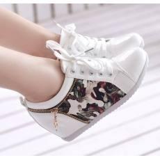 2014秋季新款时尚涂鸦单鞋舒适女鞋内增高休闲系带 单鞋