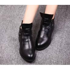 2014新款女士侧拉链圆头短靴
