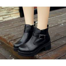 齐发娱乐_厂家批发 高跟防水台短靴新款