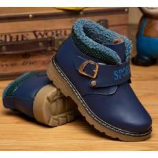 儿童雪地靴 牛筋底男童棉靴