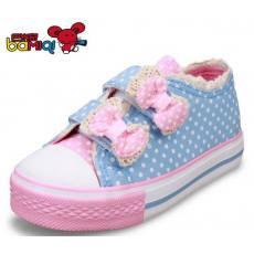 巴米奇儿童帆布鞋女童鞋亲子韩版潮公主单鞋