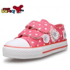 巴米奇儿童帆布鞋女童鞋子韩版