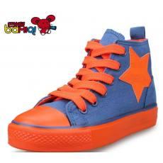 巴米奇童鞋2014新款儿童帆布鞋