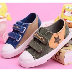 海绵宝宝男童女童帆布鞋