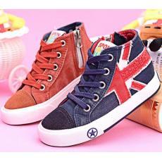 海绵宝宝童鞋儿童高帮帆布鞋