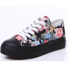 时尚碎花女士系带单鞋休闲鞋 女式帆布鞋 B031