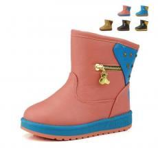 儿童加厚防水雪地靴 加厚毛绒超保暖儿童款