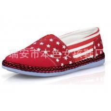 一脚蹬帆布鞋懒人鞋