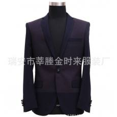 2013韩版修身小西装男秋装时尚休闲西装上衣拼接西装外套男