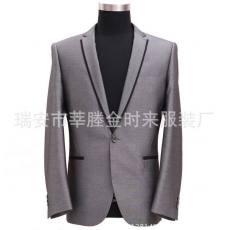 男装银灰色韩版休闲西装男士修身西服外套 休闲小西装男