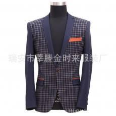 复古韩版修身西装男装潮外套