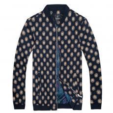 2014秋冬新款男式夹克外套 时尚个性金属拉链碎花简约男士夹克
