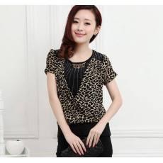 qile600_工厂直销 大码女装 中老年T恤 夏季女装短袖