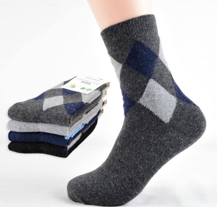 男士 时尚高档 羊毛袜 加厚 菱格 兔羊毛袜 S2796