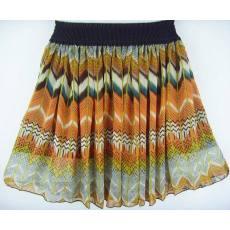 春最新款 麦穗纹 波西米亚风格雪纺半身短裙打底裙批发