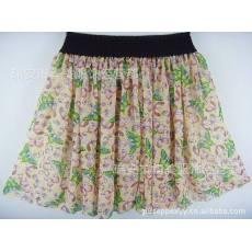 春最新款 甜美田园风 高档雪纹半身短裙 打底裙彩蝶