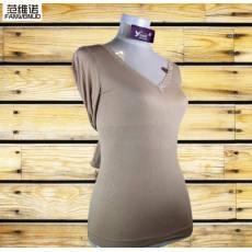 2014新款竹纤维蕾丝v领保暖内衣