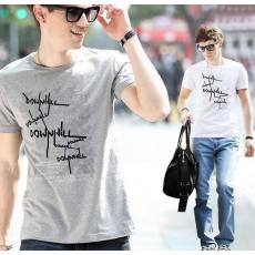 全棉带弹性休闲外贸男式短袖t恤 男式t恤
