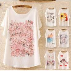 23色2014夏装新款女装韩版宽松大码蝙蝠衫T恤短袖