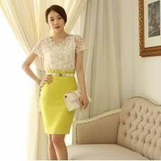 2014夏装新款韩版通勤修身大码半身裙