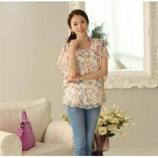 新款夏装韩版时尚休闲大码雪纺短袖T恤