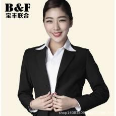 商务通勤OL职业装女装西服套装韩版修身西装女士正装藏青色