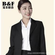 职业装女装套装女士西装春秋季职业正装藏青色黑色经典二扣