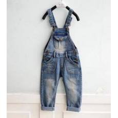 多可爱童装韩版秋装新款2014潮工装儿童长裤牛仔背带裤批发加工