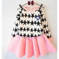 多可爱 童装女童秋款新品洋气儿童气质卫衣短裙套装 上衣 短裙
