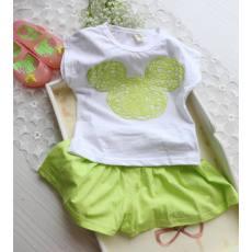 2014夏季新品女童可爱米奇甜美休闲棉弹性短袖上衣裙童套装两件套