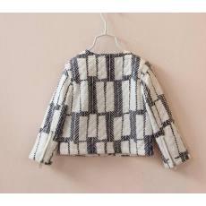 2014秋装 欧美韩版女童装儿童 格子外套夹棉长袖夹克批发一件代发
