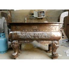 文昌阁长方平口铜香炉