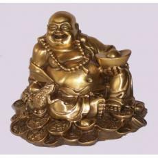A3602 坐金钱蟾蜍弥勒 佛像