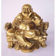 齐发娱乐_A3587 龙椅弥勒 佛像