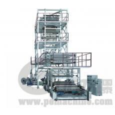 MSJ-GS系列 多层共挤(上吹旋转牵引式)包装薄膜吹膜机