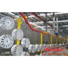 汽车轮毂电泳喷塑涂装生产线