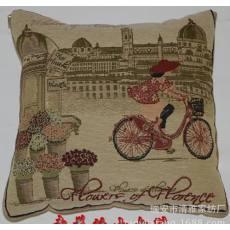 厂家直销花织提花抱枕被 可订制LOGO