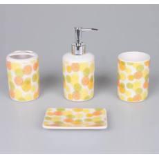 厂家直销 圆形柠檬片 陶瓷套装 卫浴四件套 靓丽家居