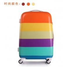 Lovefollow彩虹条纹拉杆箱万向轮20寸24寸pc行李箱登机箱密码箱子