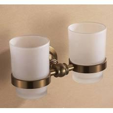 欧文 太空铝拉丝青古铜双杯 杯架