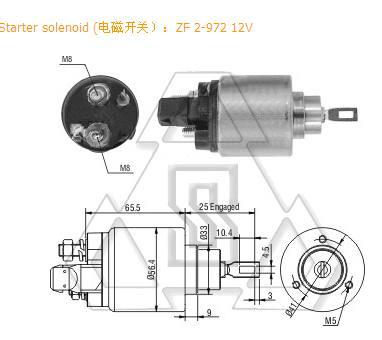 起动机电磁开关F-000-SH0-117 ZF 2-972