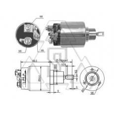 起动机电磁开关0-331-303-164 ZF 3-775