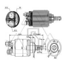 起动机电磁开关0-331-402-107 ZF 743