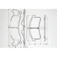 HD-BU623刹车片 汽车盘式刹车片