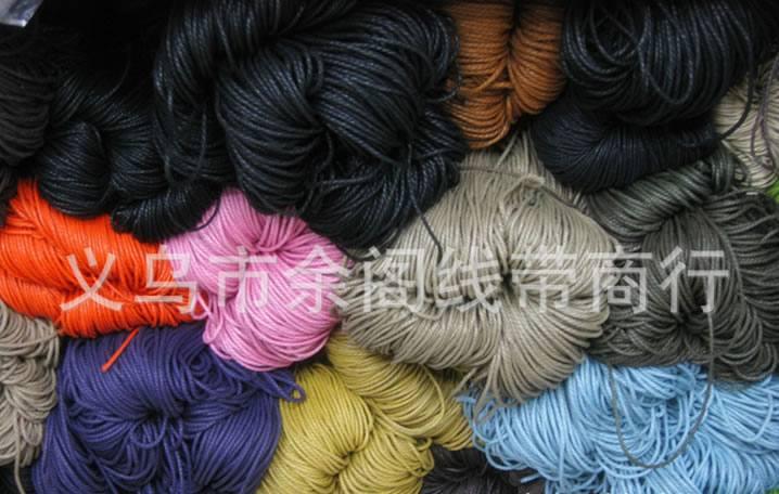 3股850米/捆 彩色蜡绳 棉蜡绳 黑色股绳 黑色3股棉