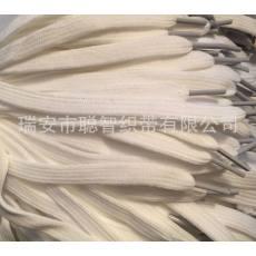 乳白色扁鞋带、白色鞋带、涤纶带、服装带、1公分宽鞋带