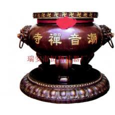 铜铁平口香炉