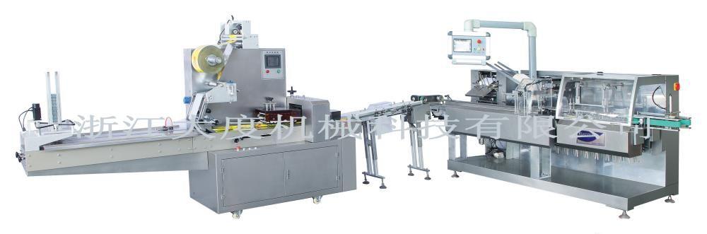 枕式包装/装盒联动包装生产线(药厂专用型)