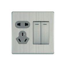 86-C2-014 二位单/双控带二、三极插座